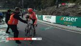 Barta zmieniał rower przed podjazdem na 13. etapie Vuelta a Espana