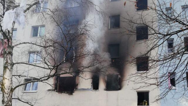 Wybuch w bloku mieszkalnym.  Co najmniej jedna osoba nie żyje