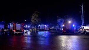 Pożar dawnego dworca pod Warszawą. Jedna osoba nie żyje