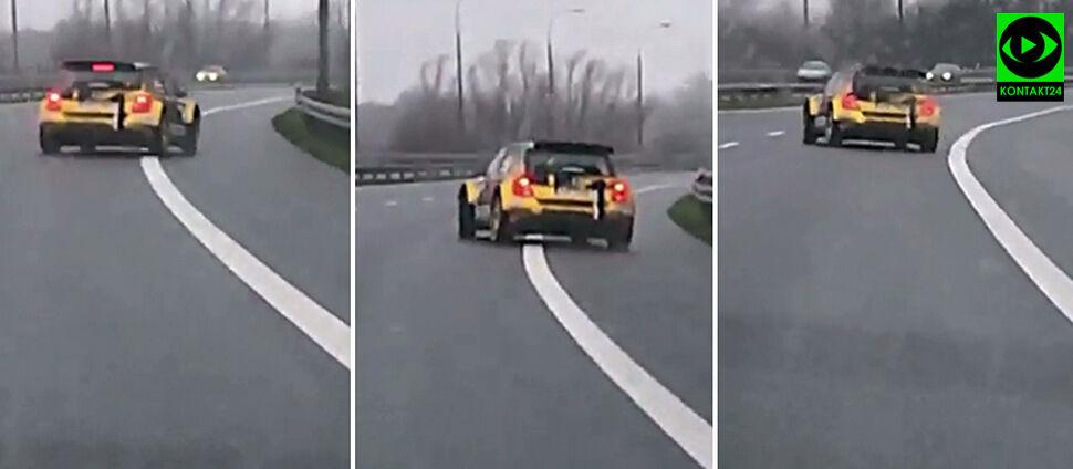 """Niebezpieczna jazda na S7.  """"Pomylił tor rajdowy z normalną drogą"""""""