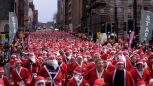 Bieg Świętych Mikołajów w Glasgow