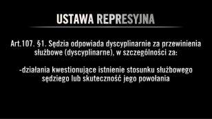 Ustawa represyjna. Konsekwencje dyscyplinarne i służbowe dla sędziów