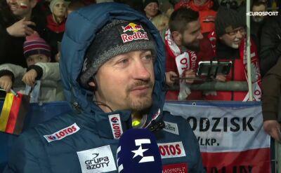 Adam Małysz po niedzielnym konkursie w Klingenthal
