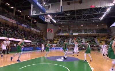 Najciekawsze momenty meczu Stelmet Zielona Góra - Tsmoki Mińsk w Lidze VTB
