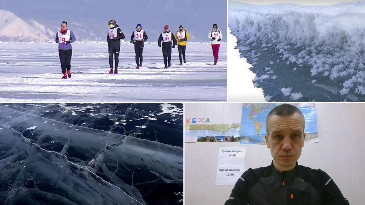 """Polak ukończył ekstremalny maraton po zamarzniętym Bajkale. """"Stopy mocno się zapadały"""""""
