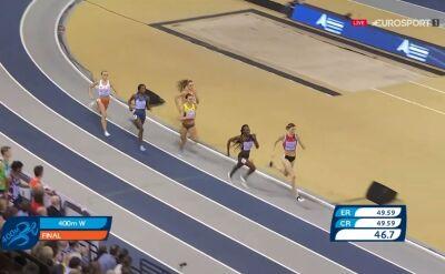 Święty-Ersetic ostatnia w finale biegu na 400m, triumf Sprunger