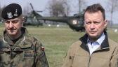 Minister obrony narodowej Mariusz Błaszczak spotkał się z żołnierzami