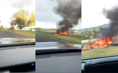 Na Hawajach spadł samolot. Maszyna stanęła w płomieniach