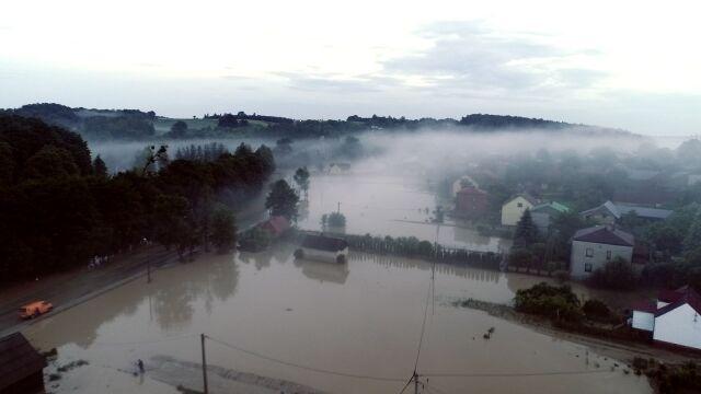 Gwałtowna ulewa przeszła na terenie gminy Modliborzyc