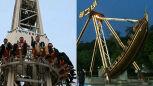 Zabawa w parku rozrywki w Pjongangu w Korei Północnej