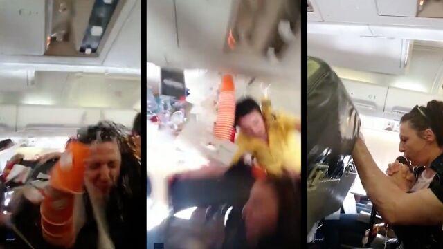 Dramatyczne nagranie ze środka samolotu podczas turbulencji
