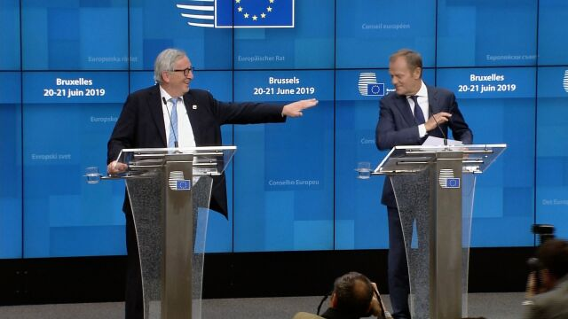 """""""I note with certain amusement that it is not easy to replace me,"""" said Jean-Claude Juncker, whose term as the Commission chief expires at the end of October"""