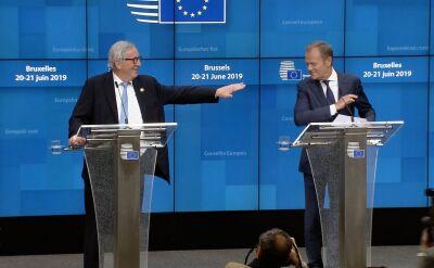 Juncker żartuje podczas konferencji prasowej z Tuskiem