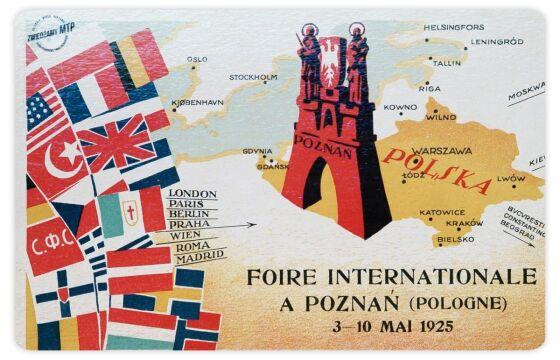 Plakat z 1925 roku - już Międzynarodowych Targów Poznańskich