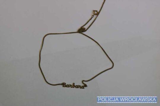Łańcuszek z imieniem Barbara