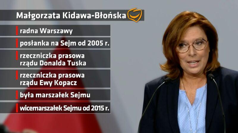 Kidawa-Błońska kandydatką Koalicji Obywatelskiej na premiera