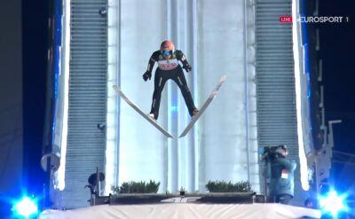 Skok Dawida Kubackiego z 2. serii konkursu w Oberstdorfie