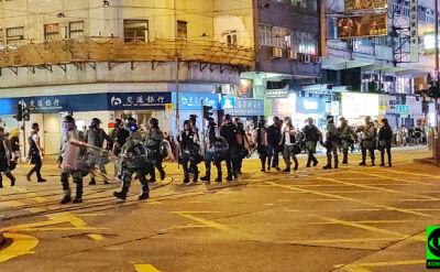 Protesty w Hongkongu na nagraniu Reportera 24