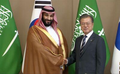 Książę Arabii Saudyjskiej z prezydentem Korei Południowej