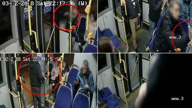 Kilka minut i zniszczyli nowiutki autobus.  Na koniec zamalowali kamerę. Za późno
