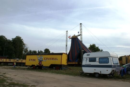 Namiot już stał