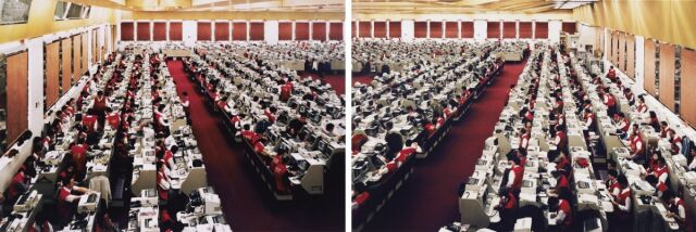 "Andreas Gursky ""Hong Kong Stock Exchange (Diptych)"", 1994"