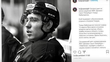 19-letni hokeista nie żyje. Został trafiony krążkiem w głowę