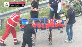 Mohorić wycofany z rywalizacji po niebezpiecznym upadku na 9. etapie Giro d'Italia