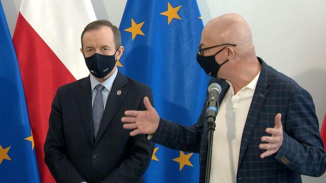 Marszałek Tomasz Grodzki i senator Michał Kamiński