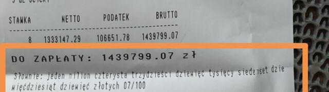 Co miesiąc płacili za wodę 150 złotych.  Teraz dostali rachunek na ponad 1,4 miliona