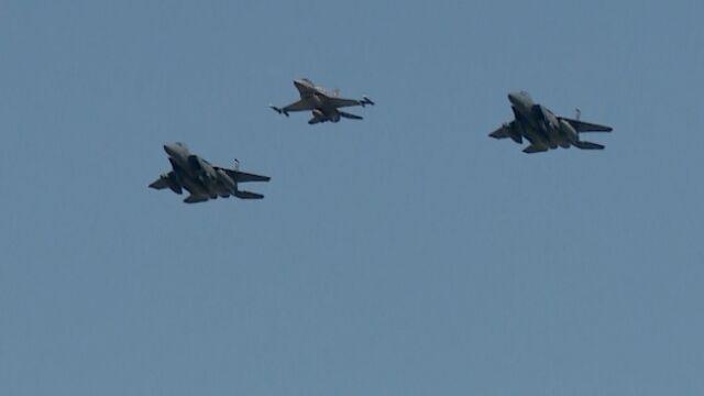 F-15 na defiladzie w Katowicach