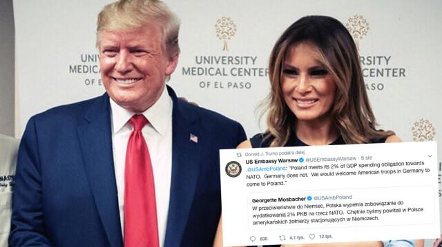 Ambasador tweetuje o amerykańskich żołnierzach w Polsce, Trump podaje dalej