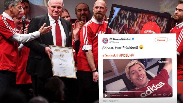 """Blond peruka """"Lewego"""", owacja na stojąco. Bayern Monachium żegnał legendę"""