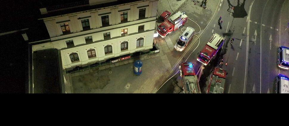 Pożar na Dworcu Świebodzkim we Wrocławiu. Jedna osoba nie żyje, dziewięć jest rannych