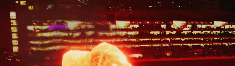 Multimedialny spektakl w La Placie. Na stadionie szalał gigantyczny lew