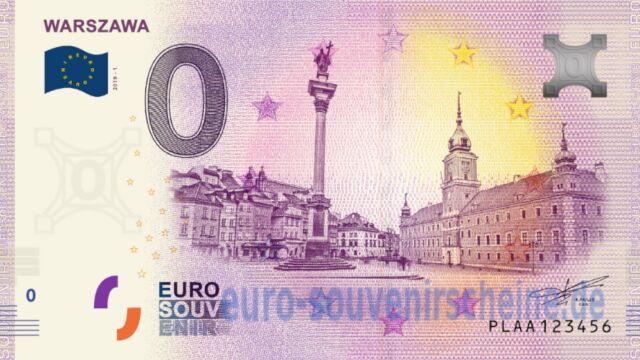 Powstał pierwszy banknot euro z wizerunkiem Warszawy
