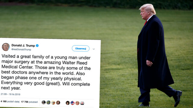 Niezapowiadane badania lekarskie Trumpa