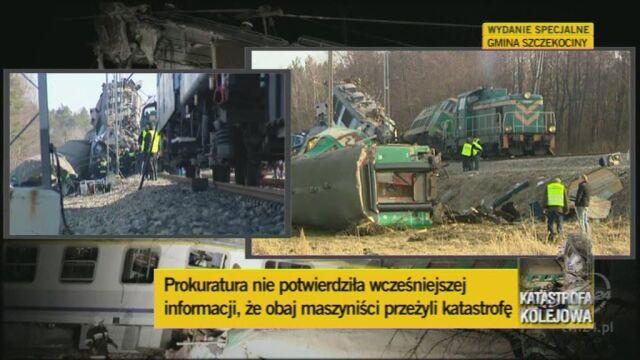 Prokuratura prostuje informacje nt. maszynistów (TVN24)