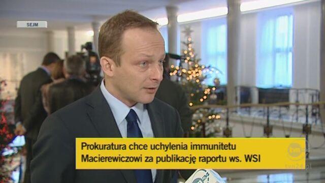 Rzecznik klubu PO o Macierewiczu (TVN24)