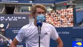 Alexander Zverev po awansie do półfinału US Open