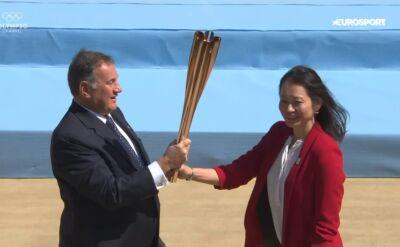Ogień olimpijski dotarł do Japonii