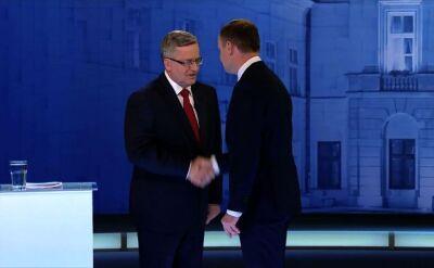 Debata prezydencka Bronisława Komorowskiego i Andrzeja Dudy