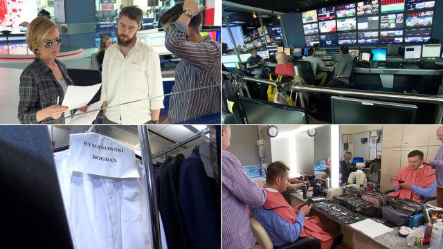 Przygotowania do wieczoru wyborczego TVN24
