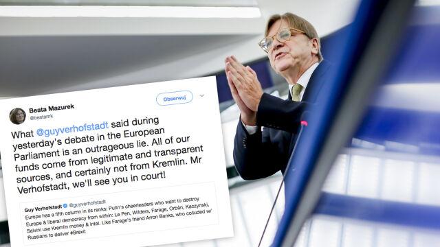 Verhofstadt o Kaczyńskim i