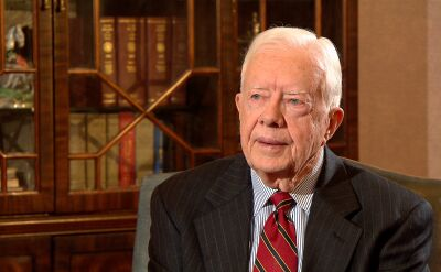 """Rozmowa Katarzyny Kolendy-Zaleskiej z Jimmym Carterem (fragment filmu """"Strateg"""")"""
