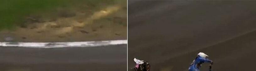 Koszmarny wypadek w Toruniu. Pędzący żużlowiec najechałna poturbowanego rywala