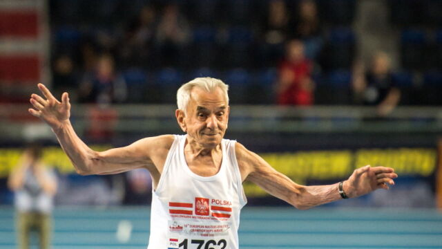 Prawie 105-letni Kowalski nie przestaje zadziwiać. Na 60 m nie ma sobie równych