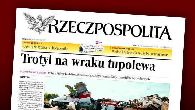 """""""Rzeczpospolita"""" oświadcza: Pomyliliśmy się pisząc o trotylu"""