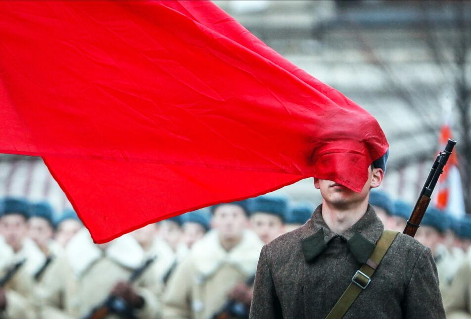 Parada na Placu Czerwonym upamiętniająca defiladę z 1941 roku