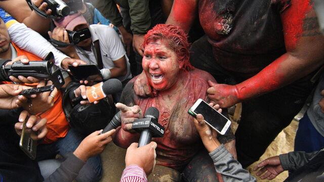 Burmistrz oblana farbą. Kolejny dzień niepokojów po wyborach w Boliwii